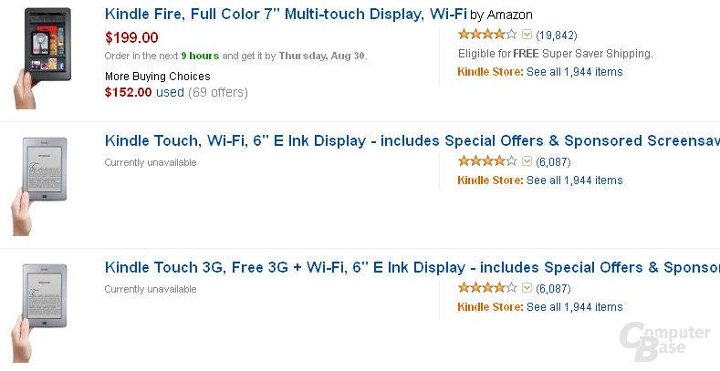 Amazon entfernt den Kindle Touch aus dem Sortiment
