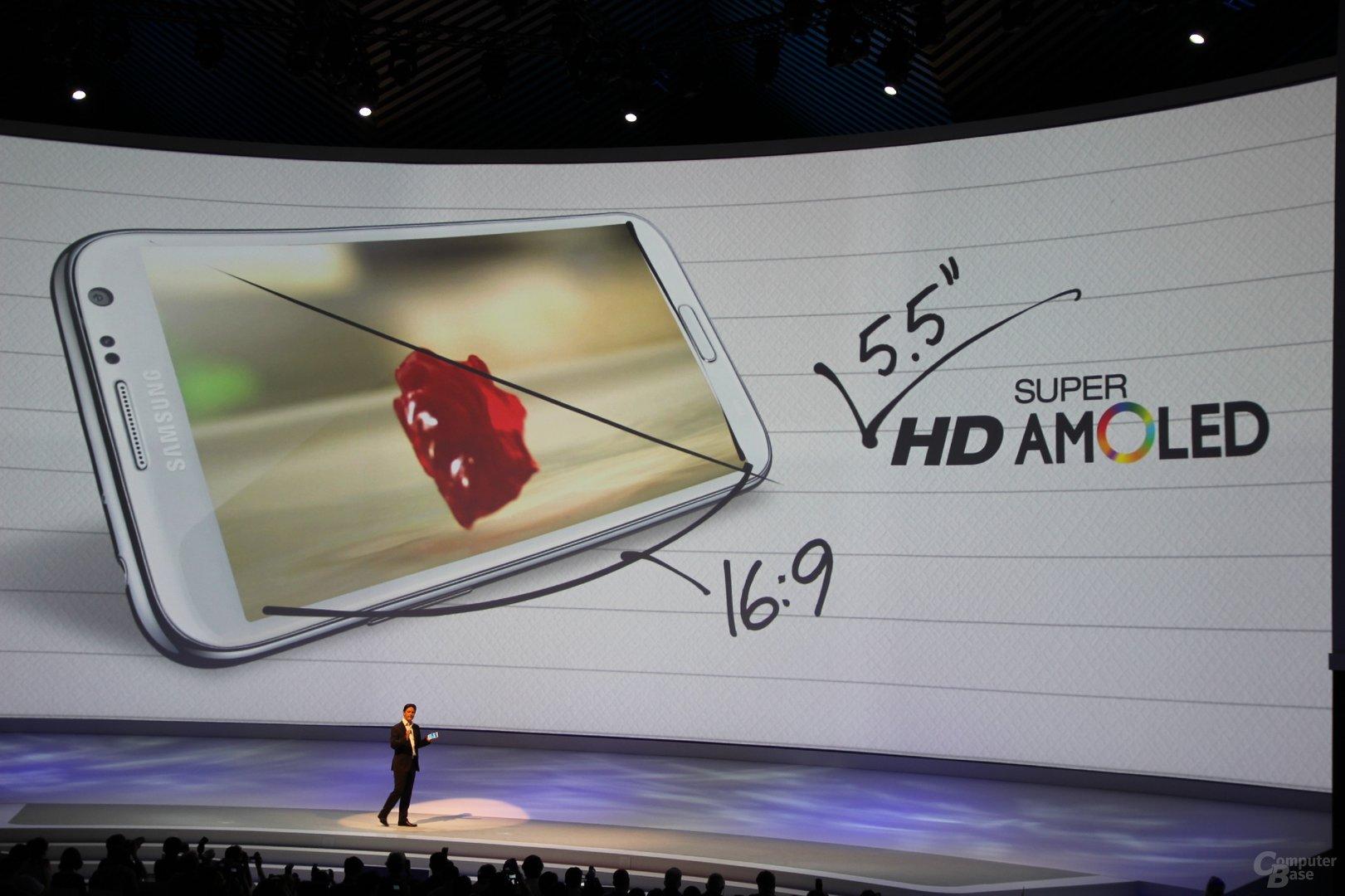 Samsung Galaxy Note II Präsentation