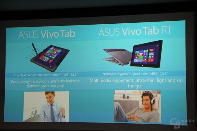 Präsentation der Asus-Tablets