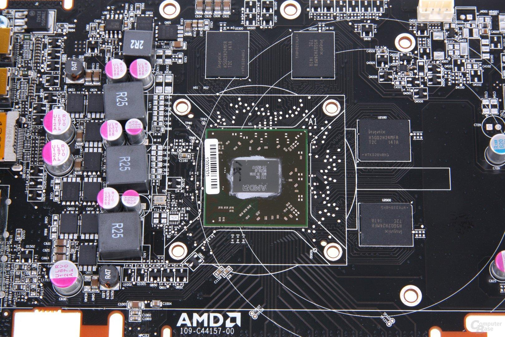 Radeon HD 7750 V2 GPU und Speicher