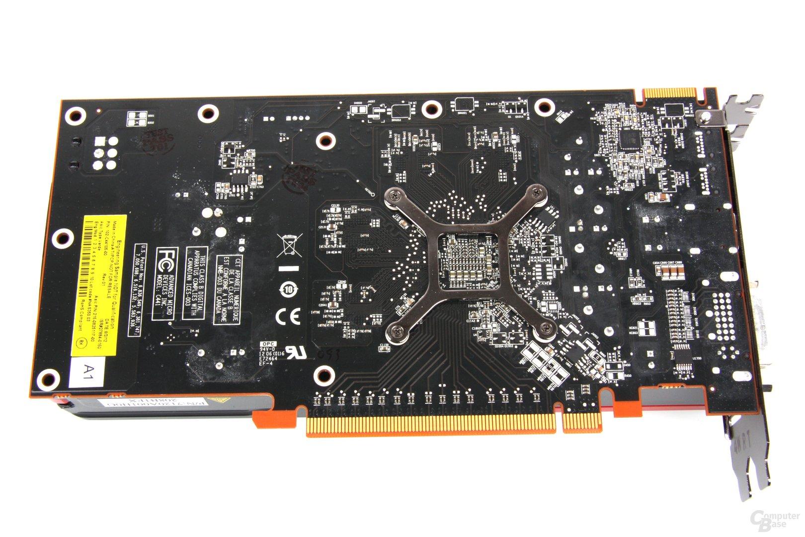 Radeon HD 7750 V2 Rückseite