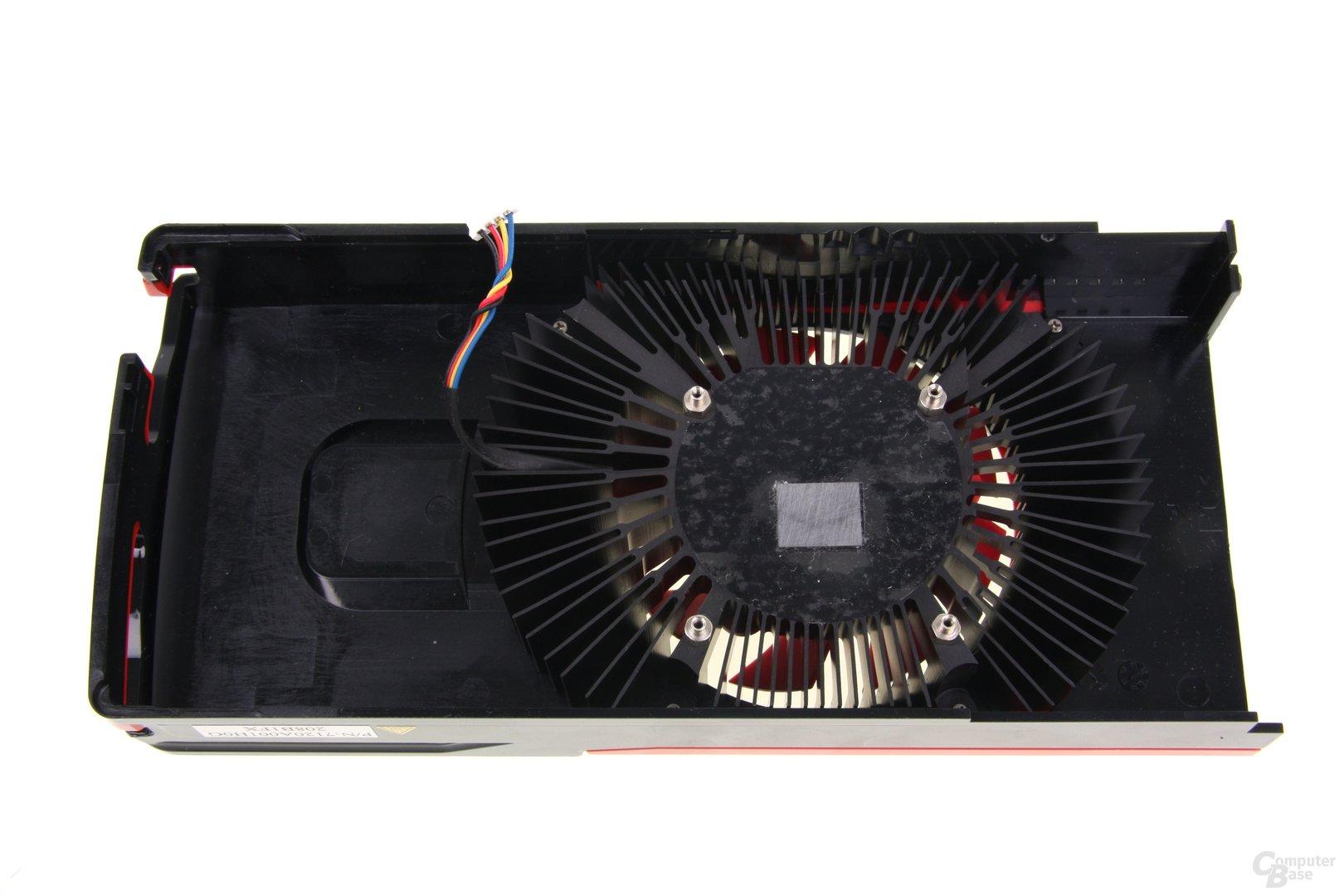 Radeon HD 7750 V2 Kühlerrückseite