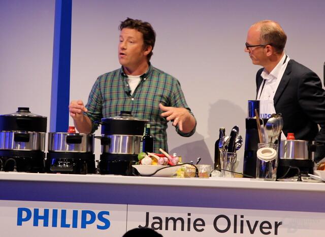 Philips-Pressekonferenz mit Jamie Oliver