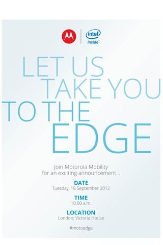 Einladung zum Motorola-Event am 18. September