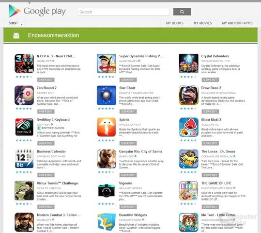 Sommerschlussverkauf im Google Play Store