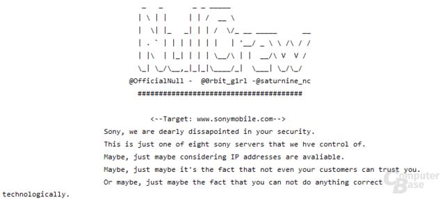 Bekanntgabe des Hackangriffs