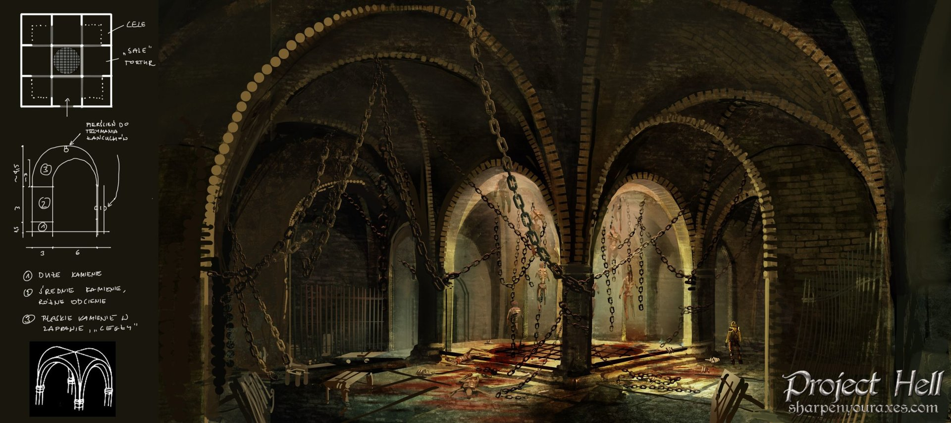"""Project Hell"" - Artwork einer Folterkammer"