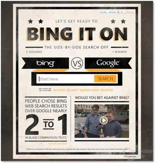 Microsofts Bing It On Challenge