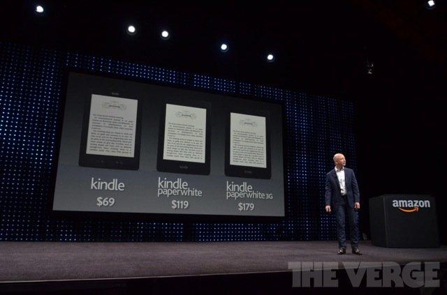 Die drei neuen E-Book-Reader von Amazon