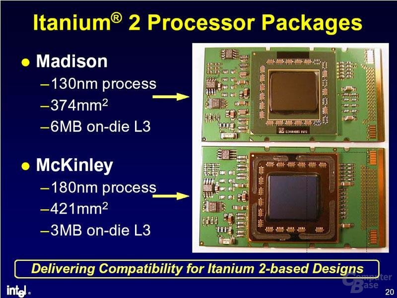Itanium 2 - Madison - McKinley - Vergleich