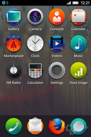 Firefox OS: Homescreen