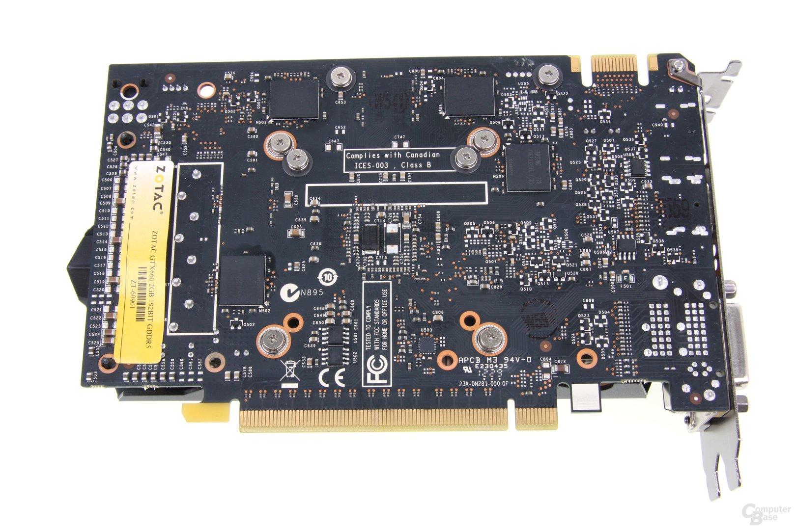 GeForce GTX 660 Rückseite