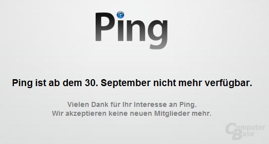 Das Ende von Ping