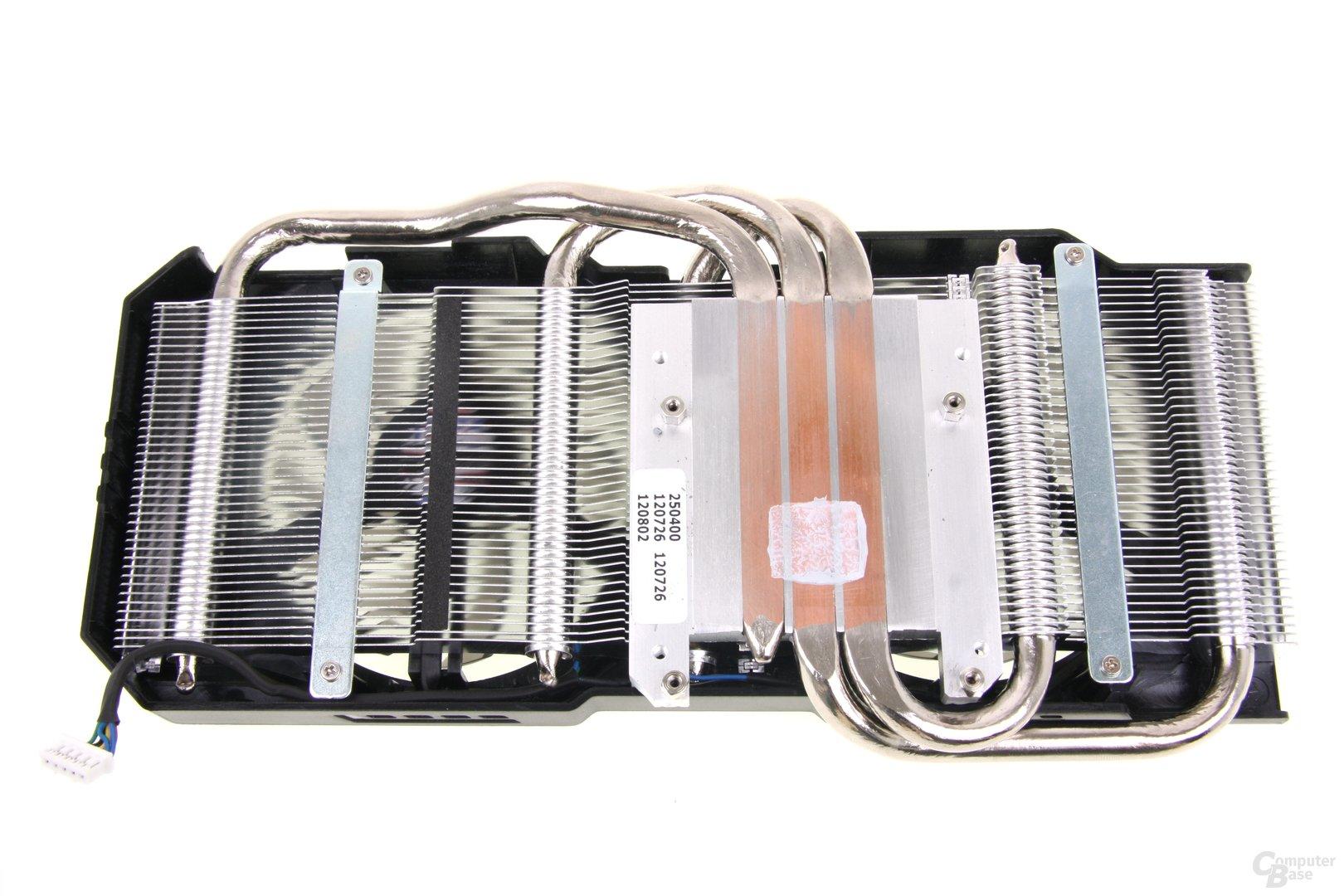GeForce GTX 660 DCII TOP Kühlerrückseite