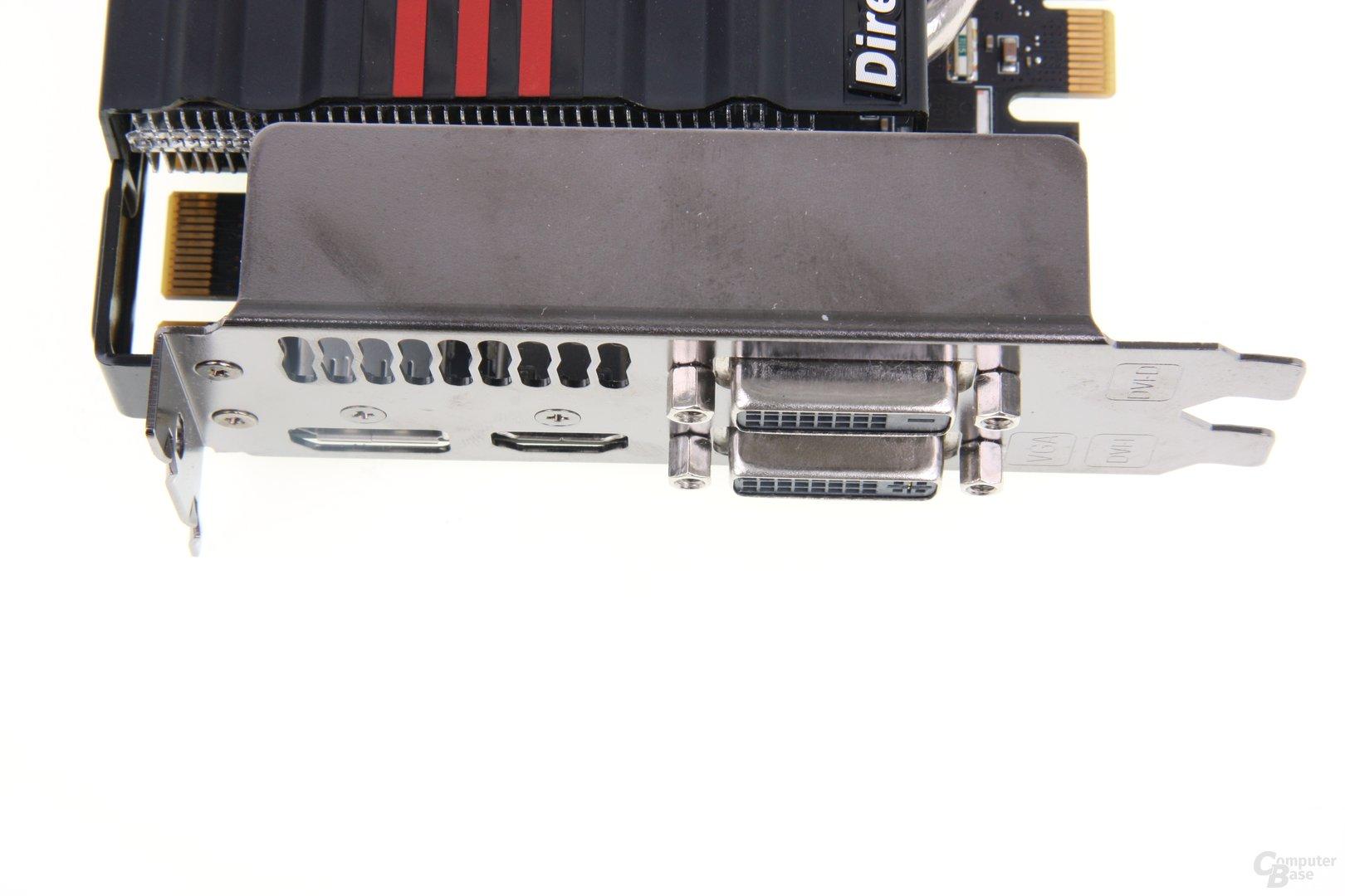 GeForce GTX 660 DCII TOP Anschlüsse