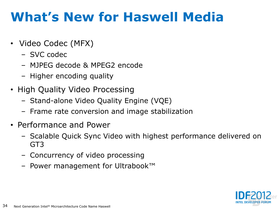 Haswell: Medienwiedergabe