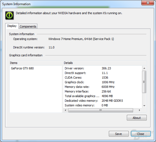 Nvidia GeForce 306.23