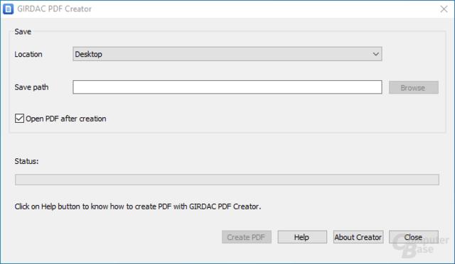 GIRDAC PDF Creator