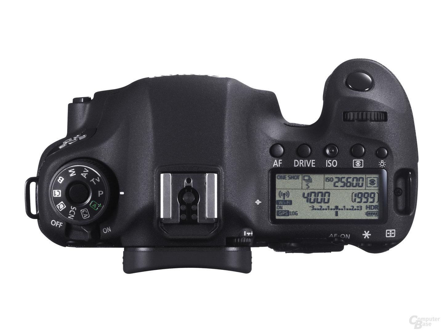 Canon EOS 6D – Aufsicht