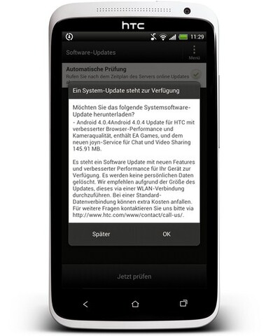 HTC One X Update auf Android 4.0.4