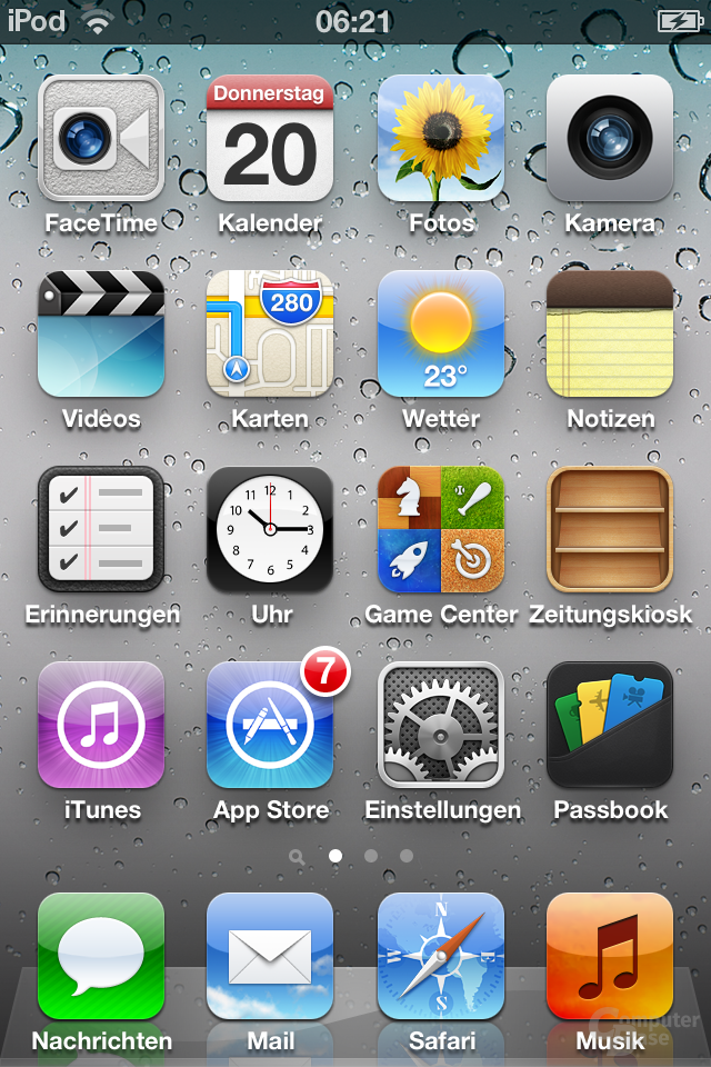 iPod Touch (iOS 6): Homescreen