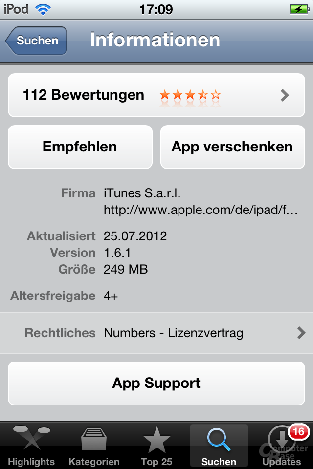 iPod Touch (iOS 5.1.1): App Store