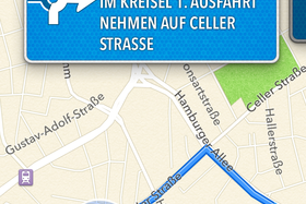 iPhone 4S (iOS 6): Navigation mit Apple Maps
