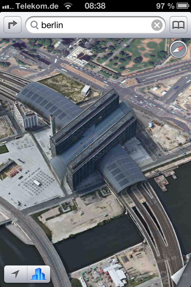 iPhone 4S (iOS 6): Apple Maps Flyover