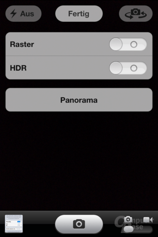 iPhone 4S (iOS 6): Panoramafunktion