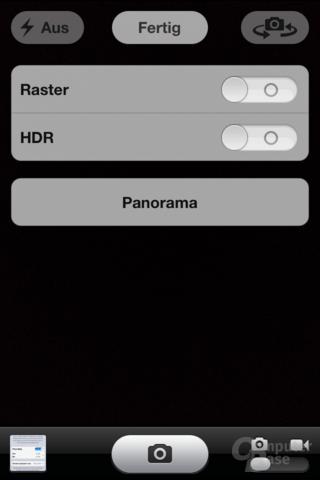 iPhone 4S (iOS 6): Panoramafunktion
