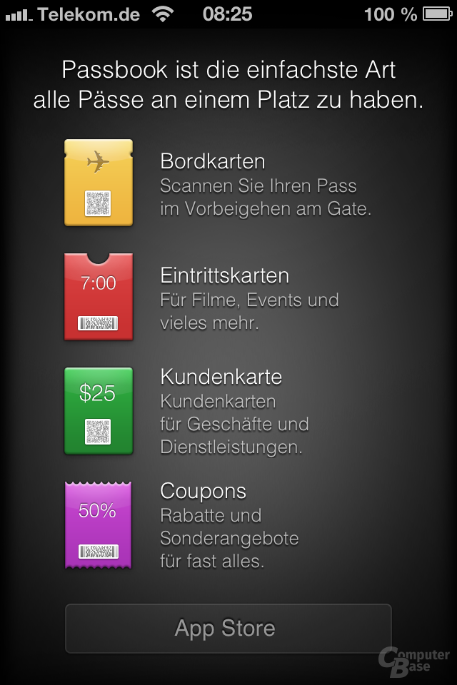 iPhone 4S (iOS 6): Passbook