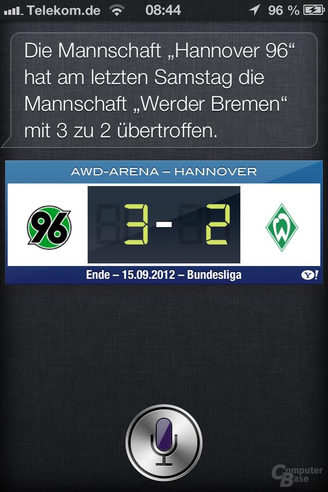 iPhone 4S (iOS 6): Neue Siri-Funktionen