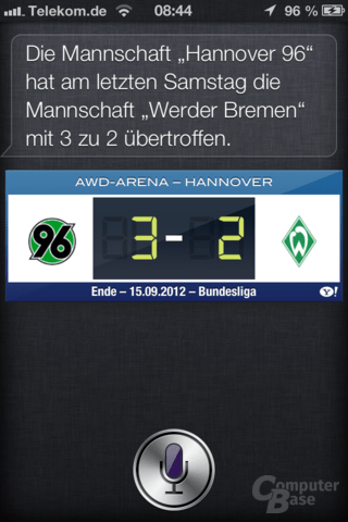 iPhone 4S (iOS 6): Neue Siri-Funktionen