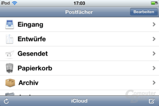 iPod Touch (iOS 5.1.1): Mail