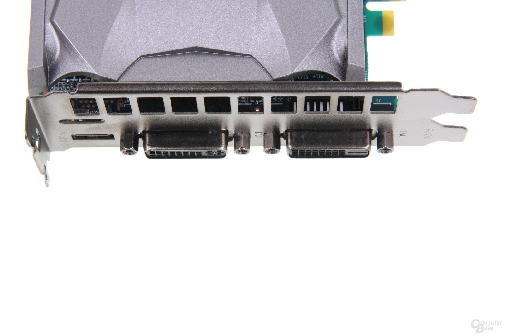 GeForce GTX 650 OC EX Anschlüsse