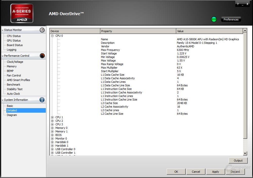 CPU-Info des AMD A10-5800K