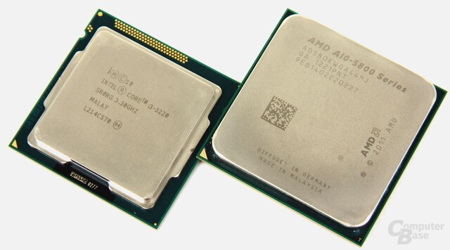 Intel Core i3-3220 vs. AMD A10-5800K