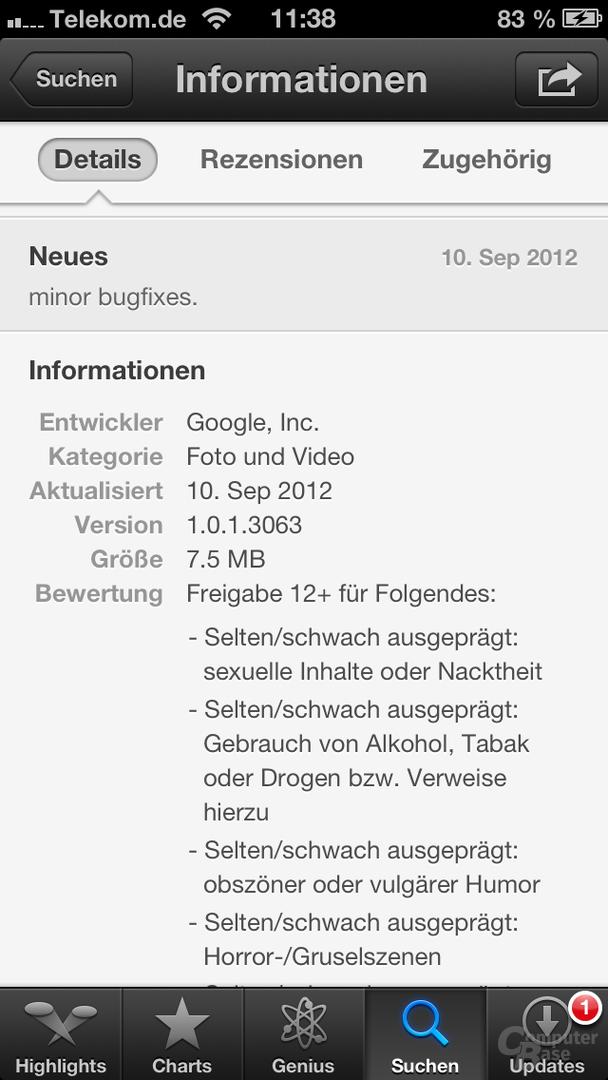 YouTube-Anwendung nun auch im deutschen App-Store erhältlich