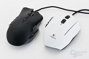 Razer Naga 2012 und Logitech G600 im Vergleich