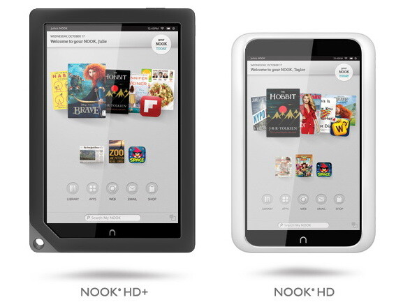 Barnes & Nobles neue Nook-Tablets