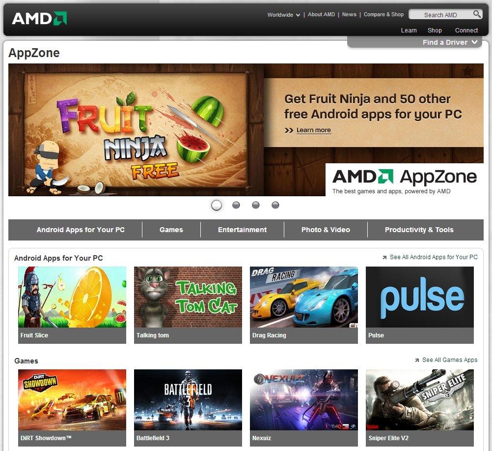 """AMDs """"AppZone""""-Portal"""