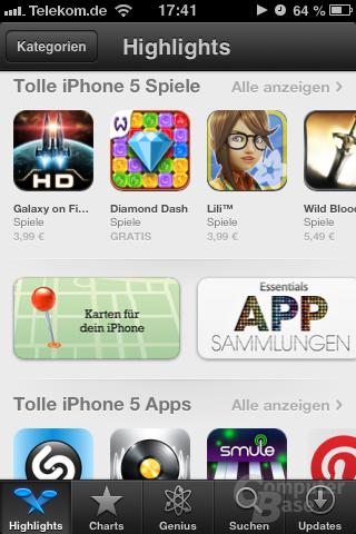 """Highlights"" im App Store"