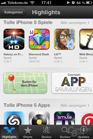 """Highlights"" im App Store"