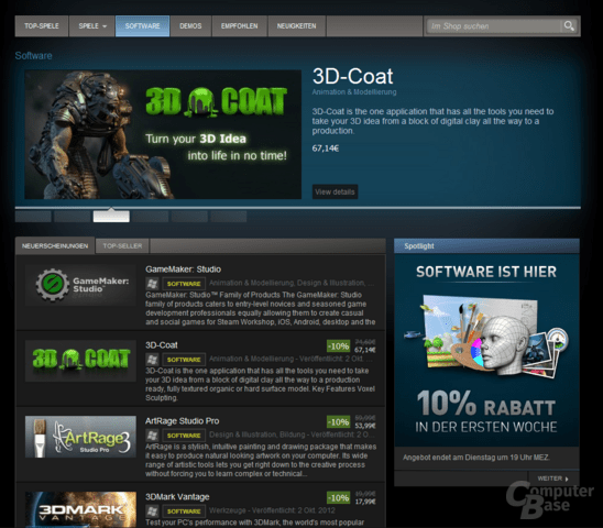 Software bei Steam