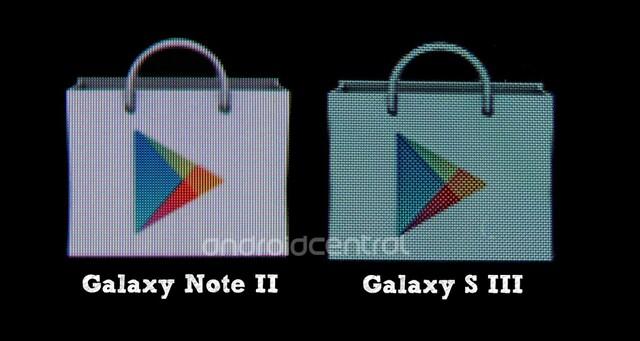 Farbvergleich Galaxy Note 2 – Galaxy S III