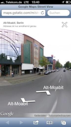 Googles Street-View-Ansicht auf dem iPhone mit iOS 6