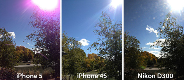 Ergebnisse von drei verschiedenen Kameras