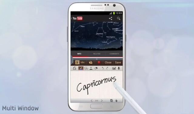 Samsung Galaxy Note 2 mit Split-Screen-Multitasking
