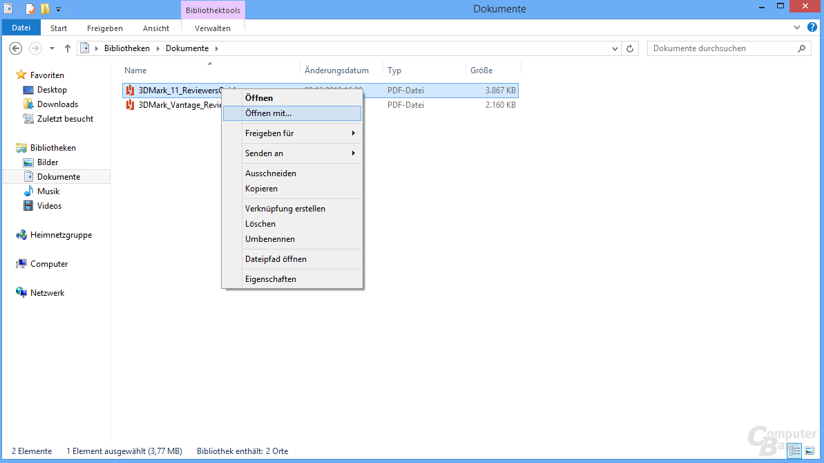PDF-Dokumente mit alternativem Programm öffnen