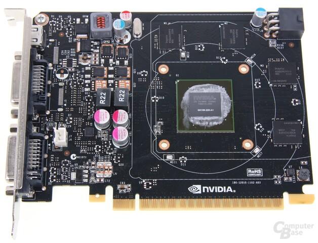 GeForce GTX 650 Ti ohne Kühler